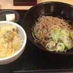 四谷 政吉 - 牡蠣天ぶっかけ蕎麦650円