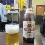77849848 - 瓶ビール 一判搾り 中瓶 590円。