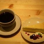 ライフカフェ - チーズケーキセット♪