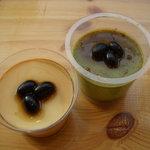 ライフカフェ - 手作り豆乳プリン♪抹茶プリン♪