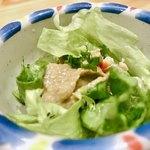 梅丘寿司の美登利 - 超特選握りに付く蟹味噌ミニサラダ