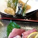 新鮮居酒屋 かずき - ランチ、造りと天ぷら両方で850円