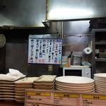 まる福 - 厨房の端っこ。