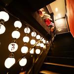 名古屋もつ焼き ひとすじ - ひとすじ提灯が目印入口 大須商店街 焼肉ホルモン専門店
