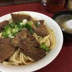 港園牛肉麵館 - 料理写真:牛肉拌麵(汁なし、NT$120≒453円)牛骨スープ付