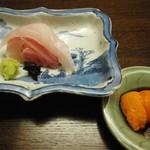 木山 - 石鯛とウニ醤油