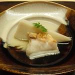 木山 - クエ炙り、海老芋