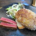 前田屋 - フォアグラハンバーグ+オレイン55ヘレステーキ