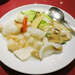 四五六菜館 - 三種海鮮の塩味炒め
