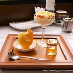 しょうゆ きゃふぇ - 春蜂蜜風味リンゴ生プリン