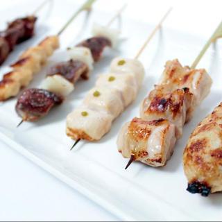 ○おすすめ○【新鮮鶏串焼セット】は当店人気の一品です!