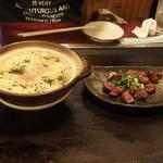 味乃家 - (2017年08月)雑炊、砂肝の塩焼