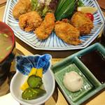 旬味和膳 季乃庄 - 牡蠣フライセット 900円 2017.11