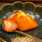 竹屋町 三多 - 名残りの代白柿と苺