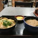 手打ちうどんの店倭 - 親子丼ときつねうどんのセット(2017.12.12)