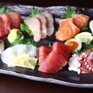 毎日新鮮!旬尽くしの市場直送鮮魚を日替わりで☆