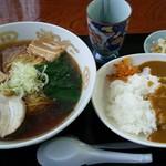 ごえん - 料理写真:ラーメン・カレーライスセット700円