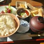 醸しや 大澤 - おまかせ御膳(河豚の唐揚げ+お刺身) 【料理】