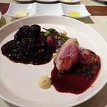 ビストロ ダイア - 岡山県美作産猪背肉のローストとモモ肉の赤ワイン煮(シヴェ)