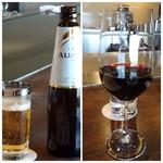 室 - 車でしか行けない場所ですので、主人は「ノンアルコールビール」私は「赤ワイン(1200円)」を