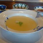 室 - ◆蕪のポタージュ・・蕪のいい味わいを感じますし、少しクリームを足されているので濃厚さも感じ美味しい。