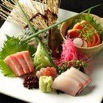 おいどん - 「厳選鮮魚3種盛り」鮮魚は新鮮が一番!