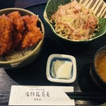 77880674 - (冷)越前おろし蕎麦、ソースかつ丼 890円