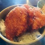 77880687 - (冷)越前おろし蕎麦、ソースかつ丼 890円                       ソースかつ丼