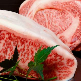 A5ランク黒毛和牛/新鮮魚介など厳選食材