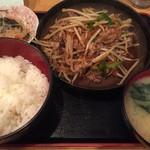 酒処 つがる - 牛肉炒め定食