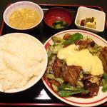 龍あん - チーズ回鍋肉t定食