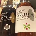 酒BAR 彩鶴 - 庄内の地ビールもご用意。