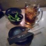 串ぜん - お通しは枝豆