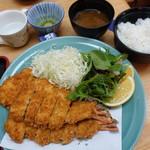 漣 - 大海老フライ定食