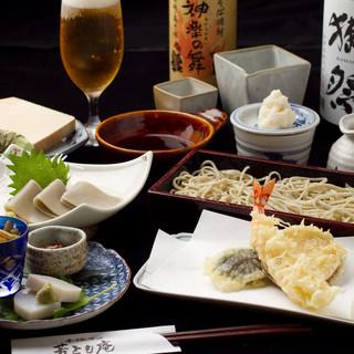 蕎麦に合う日本酒を用意してます。