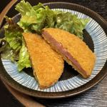 郷土料理 でくのぼう - ハムカツ(250円)