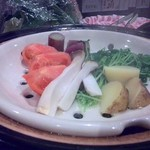 77892236 - 野菜の蒸し鍋                       (調理後)