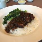 77893431 - 香港風豚肉と漬物の煮込みご飯