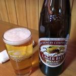 一郎 - 「キリンラガービール(大瓶)」499円也。