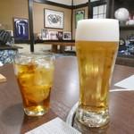 かに吉 - 【生ビールと烏龍茶】で乾杯!2017/11