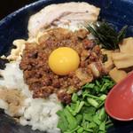 繁田 - 料理写真:まぜそば特盛 それぞれの具材が絡み合い 美味い♪