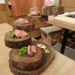 堂山 焼肉寿司 - 牛刺し