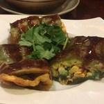 思郷村 - 葱抓餅(ネギと卵のクレープ)