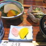 郷土料理 味の館 ふる里 - 料理写真:とうふ田楽御膳1,575円 別に田楽があります 08/09