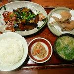 わっぱ定食堂 - ナス味噌炒め