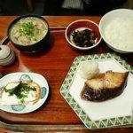 わっぱ定食堂 - 銀ダラ定食+小豚汁