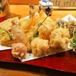 本等鮨 海馬 - 天ぷら盛り合わせ