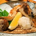 本等鮨 海馬 - かんぱちカマ塩焼き