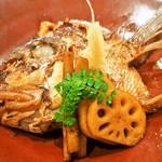 本等鮨 海馬 - 真鯛あら炊き