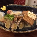 蛸焼とおでん クレ - おでん(厚あげ、牛すじ)